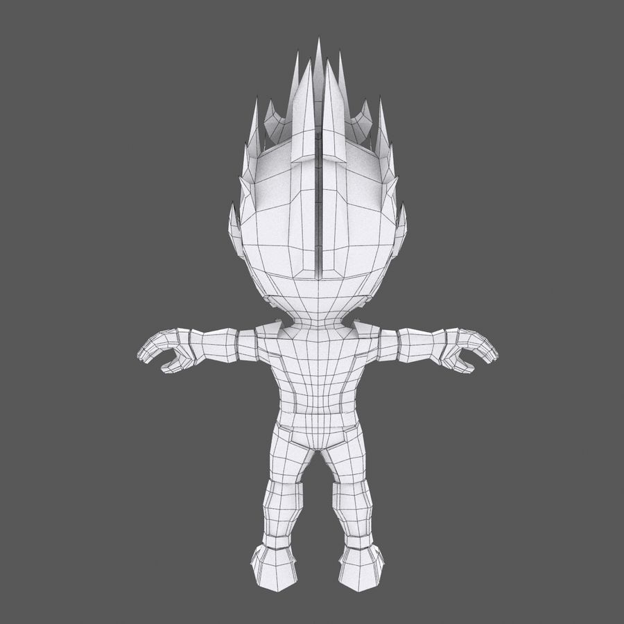 Fire Hero Champ 7 - MOBA MMORPG Character - Rigged and Animated royalty-free 3d model - Preview no. 7