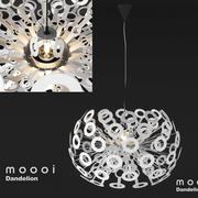 Подробная High Poly 3d модель современного потолочного светильника Moooi Dandelion 3d model