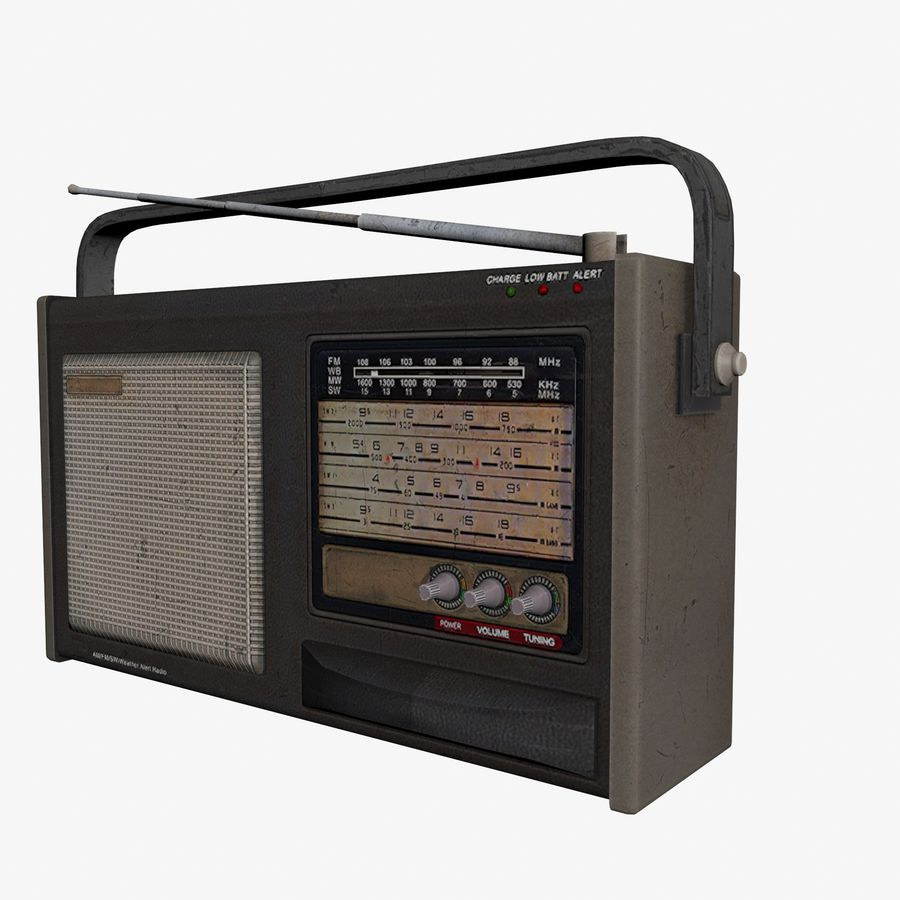 Old Radio royalty-free 3d model - Preview no. 3