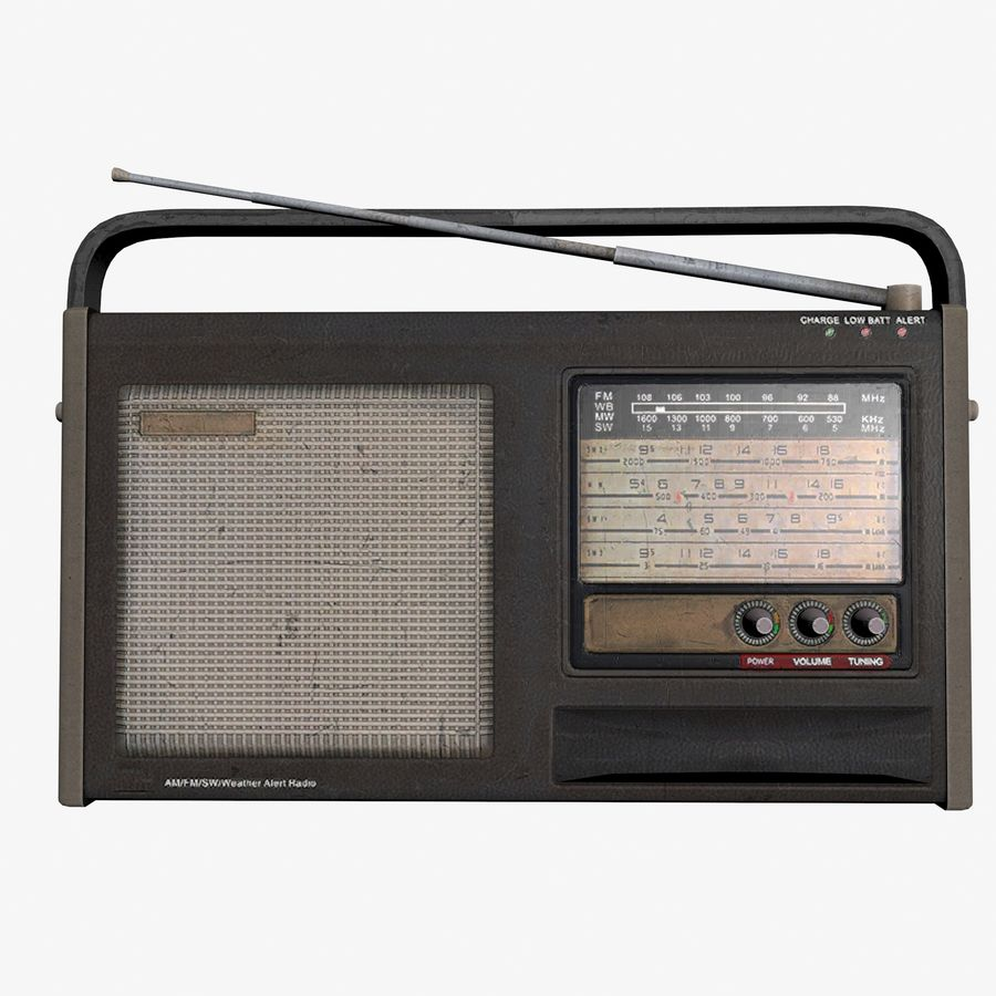 Old Radio royalty-free 3d model - Preview no. 1