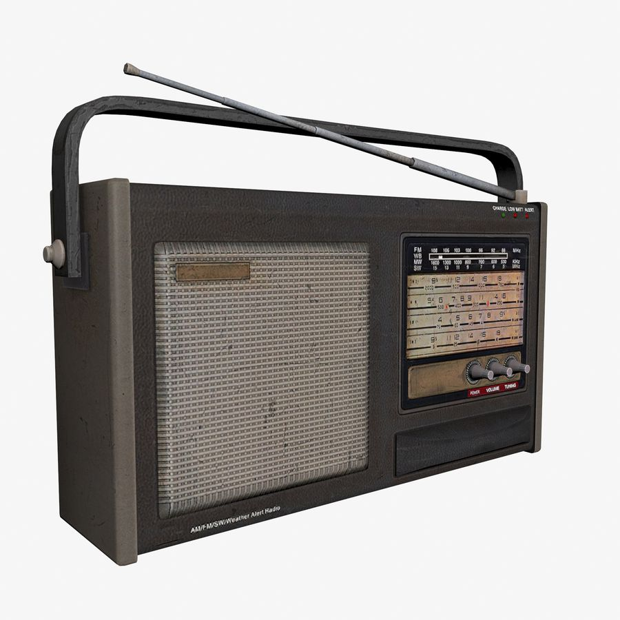Old Radio royalty-free 3d model - Preview no. 2