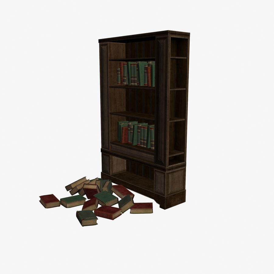 Półka na książki royalty-free 3d model - Preview no. 2