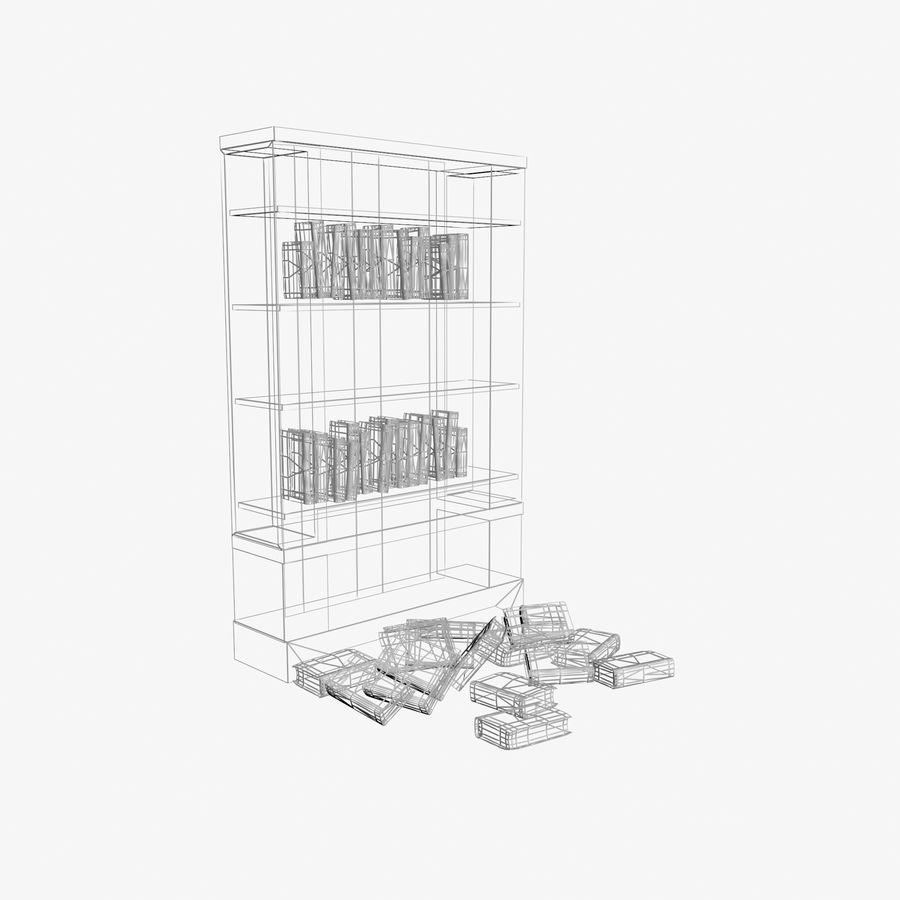 Półka na książki royalty-free 3d model - Preview no. 7
