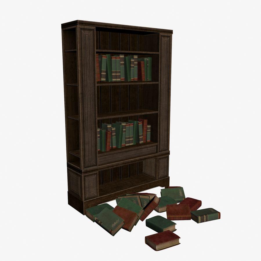 Półka na książki royalty-free 3d model - Preview no. 1