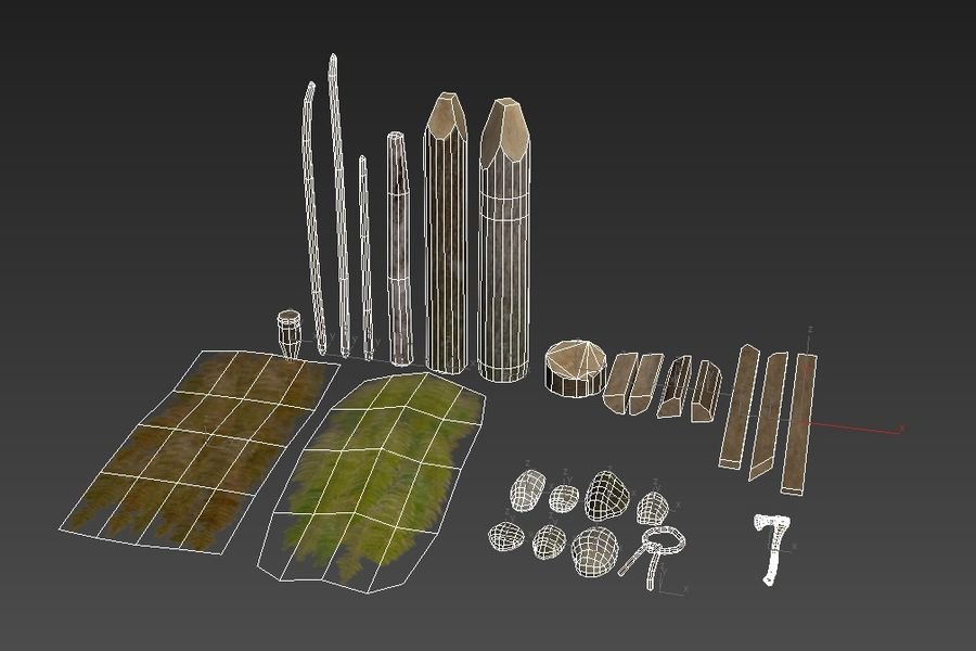 Forest Pack D180326 royalty-free 3d model - Preview no. 2