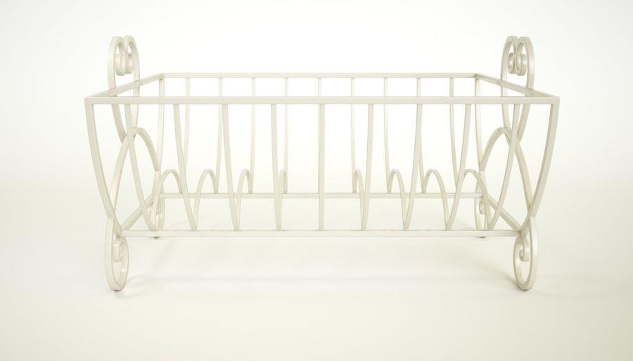 Cream Heart Bulaşık Damlalıklı Rafı royalty-free 3d model - Preview no. 3