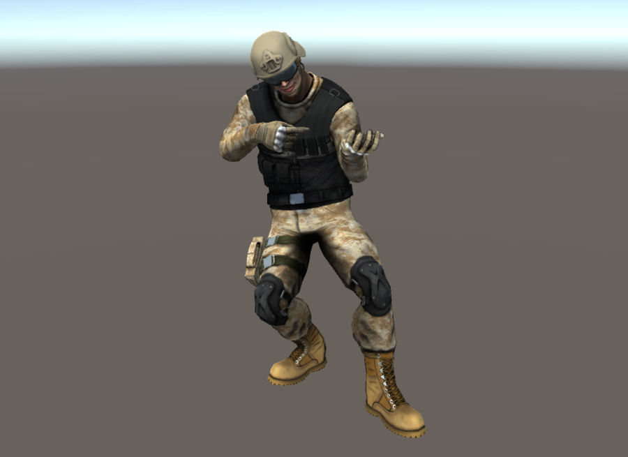Soldier royalty-free 3d model - Preview no. 4