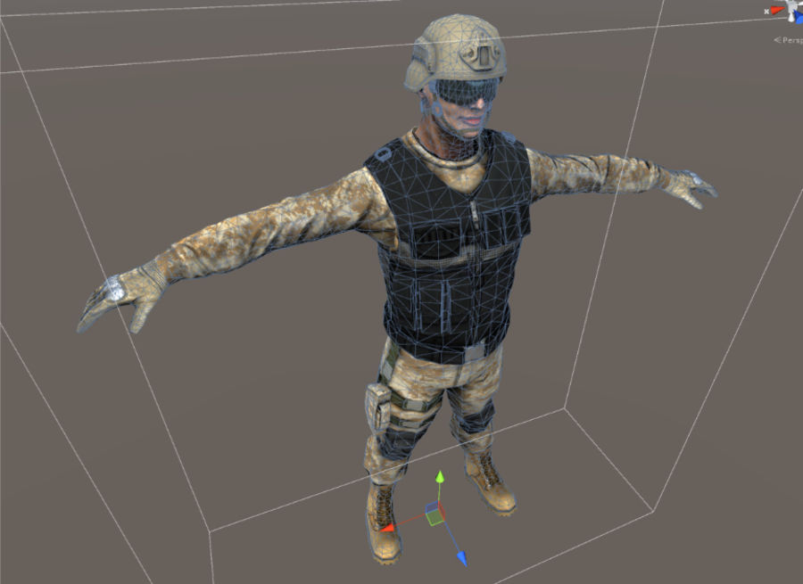 Soldier royalty-free 3d model - Preview no. 8