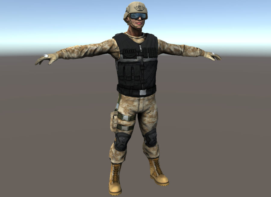Soldier royalty-free 3d model - Preview no. 3