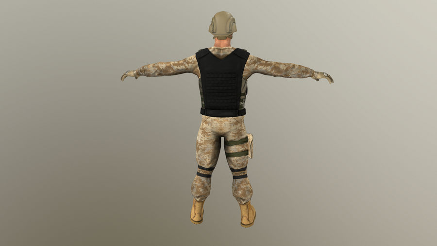 Soldier royalty-free 3d model - Preview no. 9