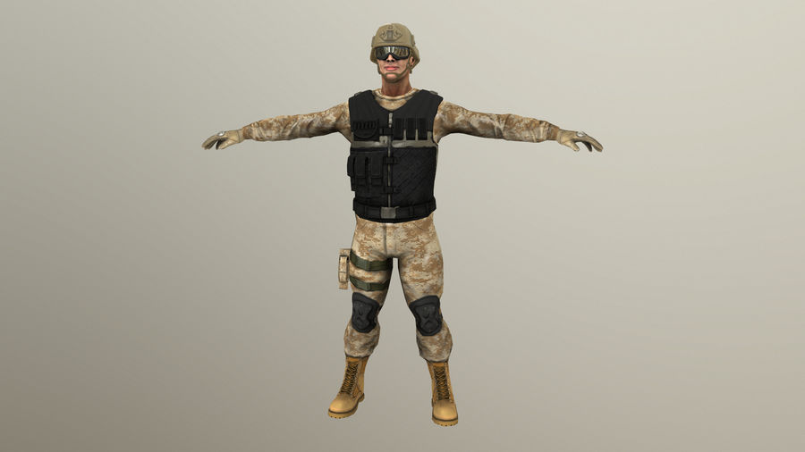 Soldier royalty-free 3d model - Preview no. 2