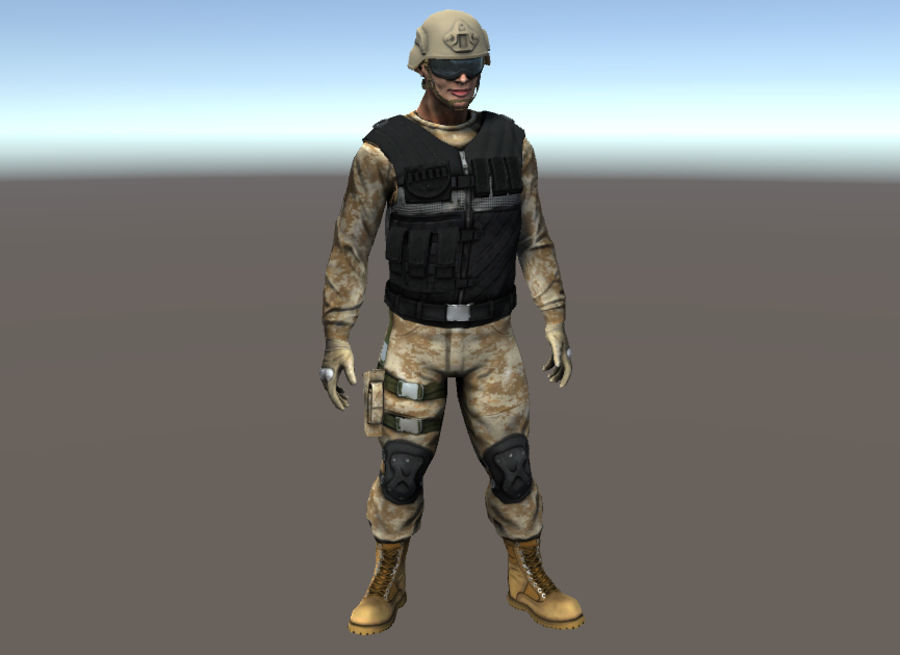 Soldier royalty-free 3d model - Preview no. 5