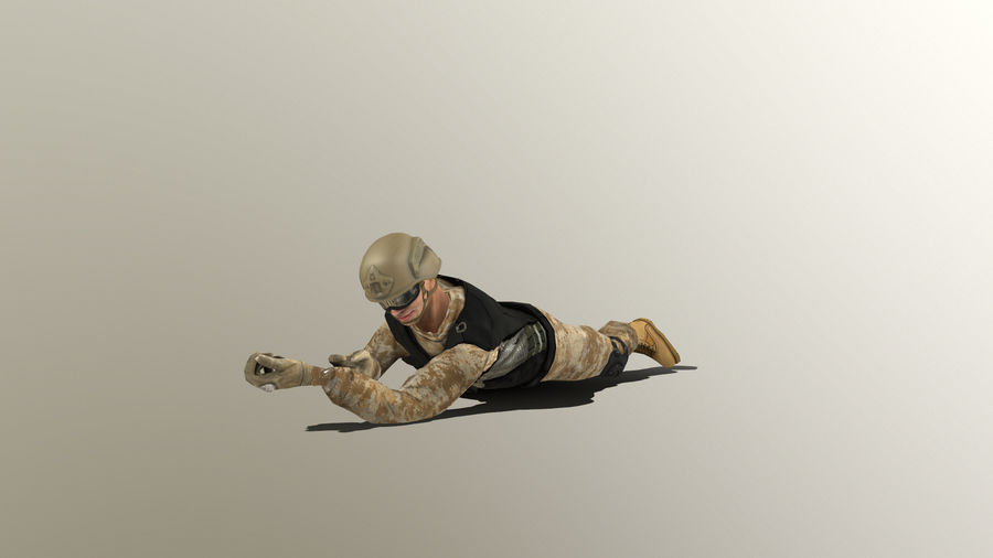 Soldier royalty-free 3d model - Preview no. 10