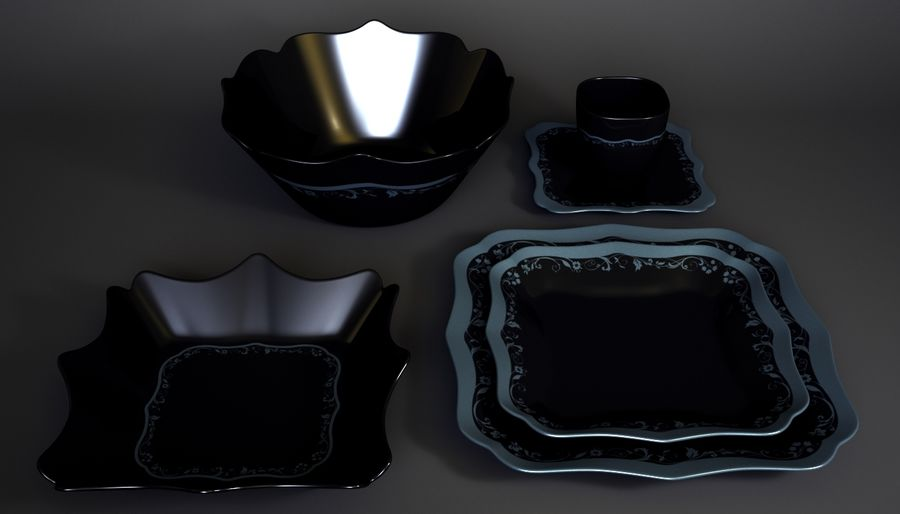 Luminarc Sofra Takımı royalty-free 3d model - Preview no. 9