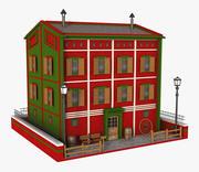 Fantasy Red Building 3d model