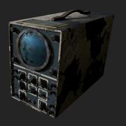 Osciloscópio enferrujado 3d model