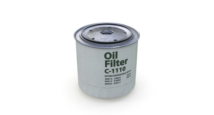Oil filter royalty-free 3d model - Preview no. 4