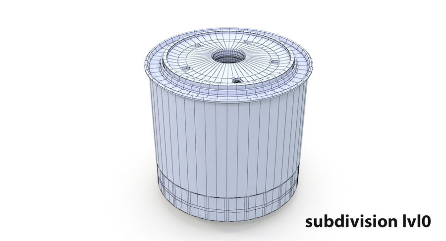 Oil filter royalty-free 3d model - Preview no. 12