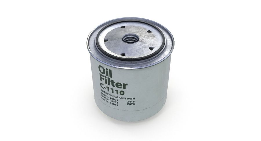 Oil filter royalty-free 3d model - Preview no. 5