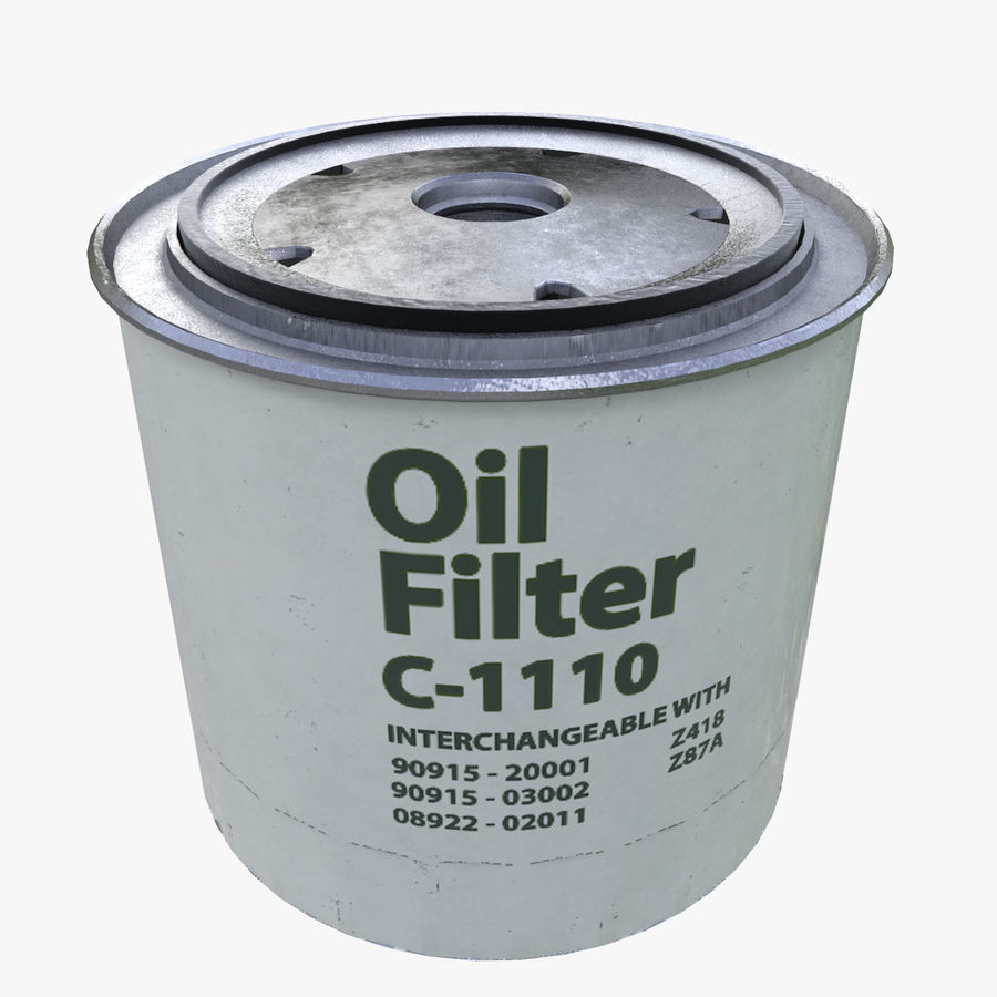 Oil filter royalty-free 3d model - Preview no. 1