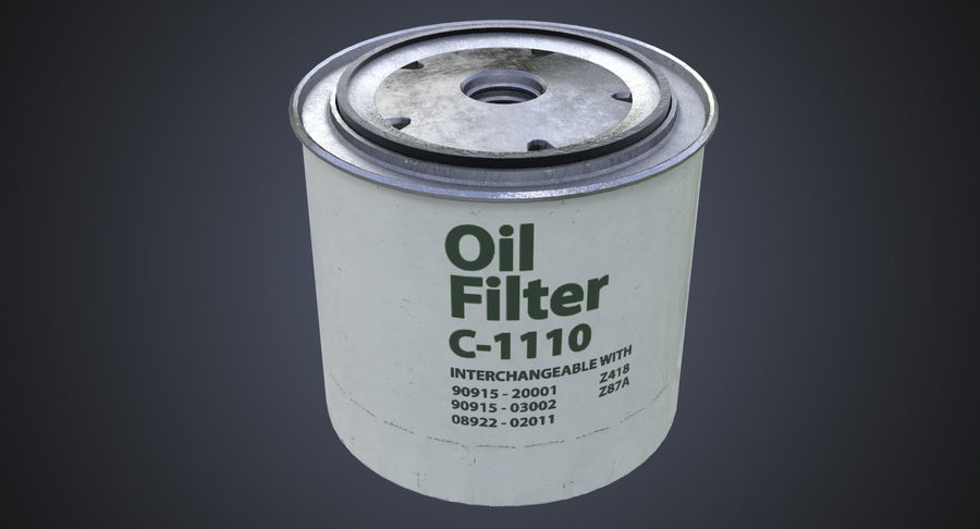 Oil filter royalty-free 3d model - Preview no. 3