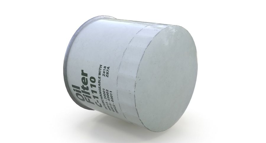 Oil filter royalty-free 3d model - Preview no. 10
