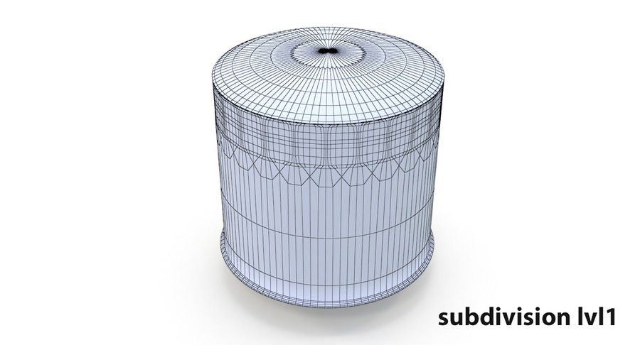 Oil filter royalty-free 3d model - Preview no. 15