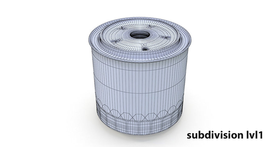 Oil filter royalty-free 3d model - Preview no. 13