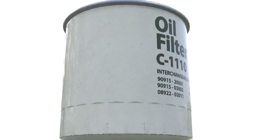 Oil filter royalty-free 3d model - Preview no. 9