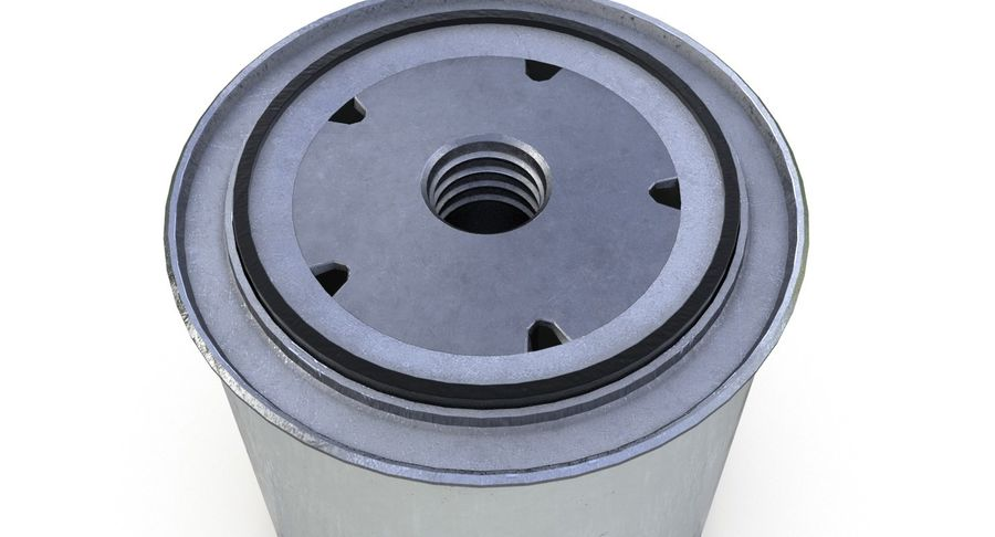 Oil filter royalty-free 3d model - Preview no. 8