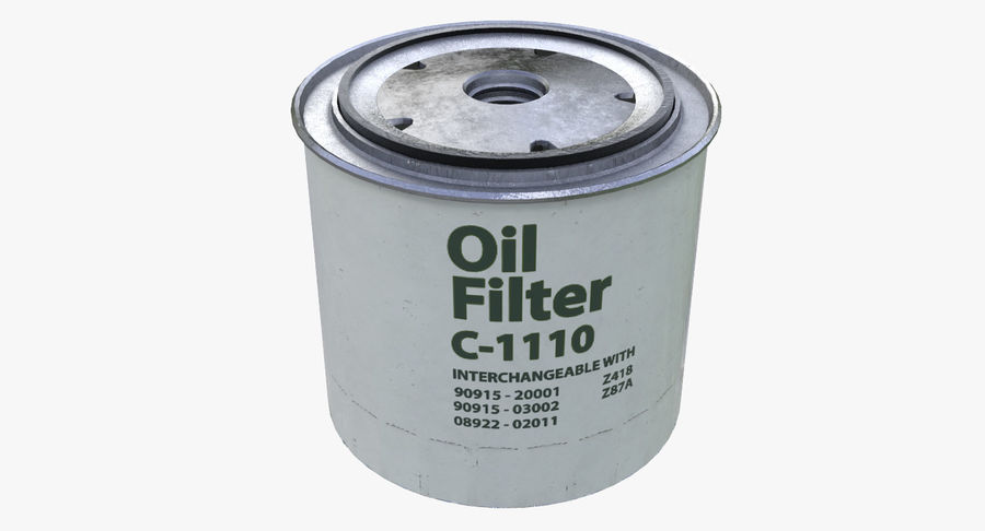 Oil filter royalty-free 3d model - Preview no. 2