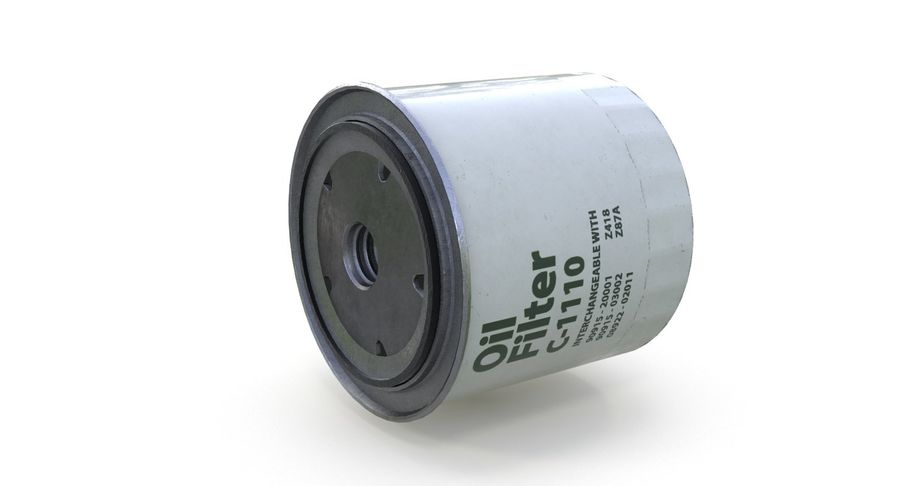 Oil filter royalty-free 3d model - Preview no. 11