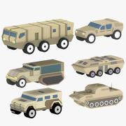 3D Модели Мультфильм Военная Техника 3d model