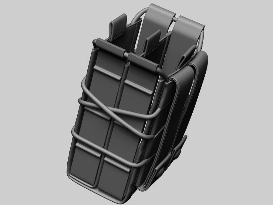 Snel dubbel mag etui royalty-free 3d model - Preview no. 18