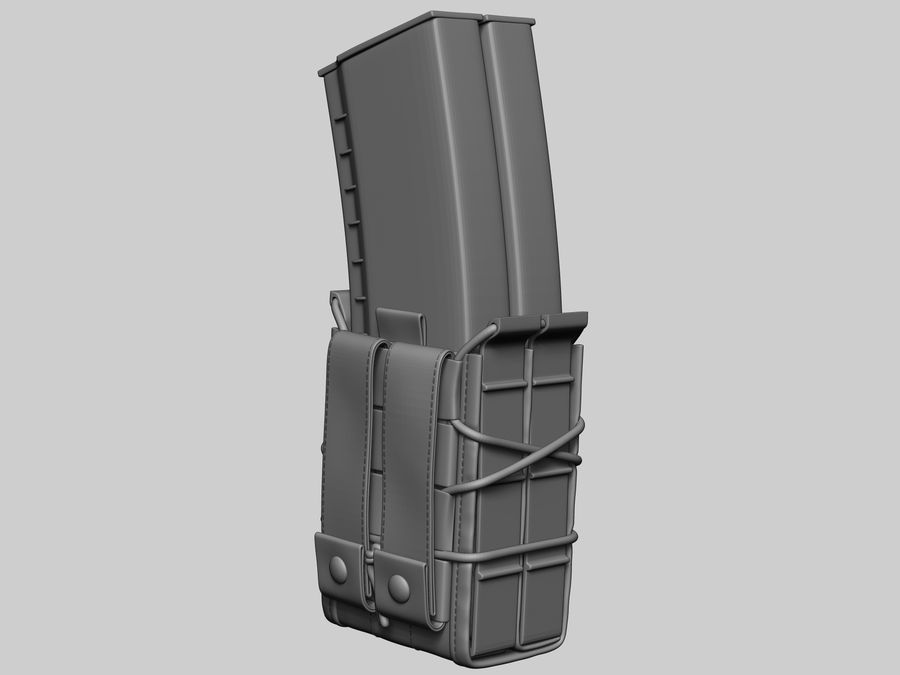 Snel dubbel mag etui royalty-free 3d model - Preview no. 6