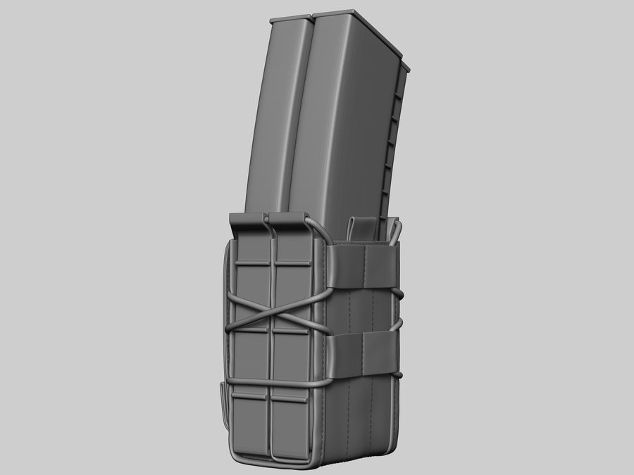 Snel dubbel mag etui royalty-free 3d model - Preview no. 4
