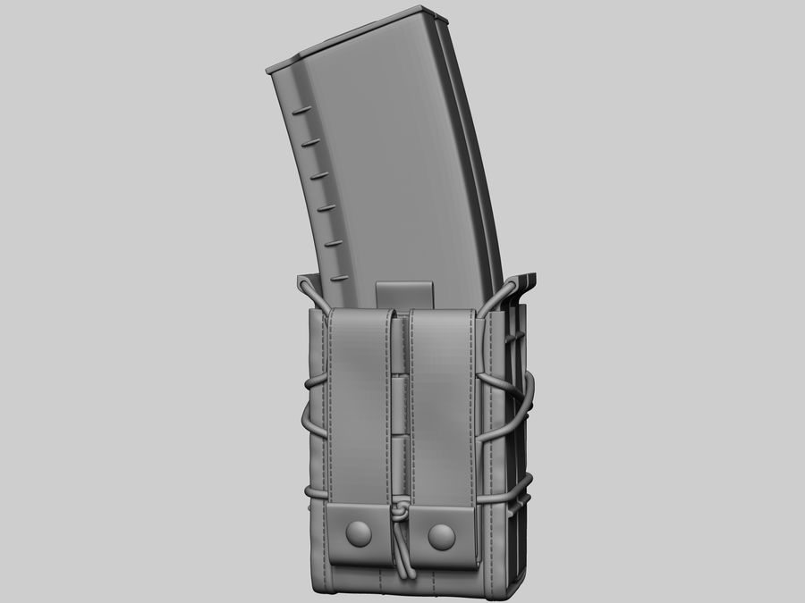Snel dubbel mag etui royalty-free 3d model - Preview no. 7