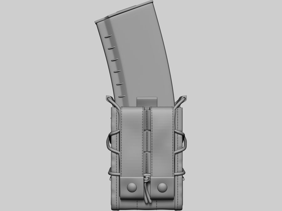 Snel dubbel mag etui royalty-free 3d model - Preview no. 8