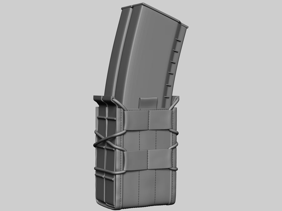 Snel dubbel mag etui royalty-free 3d model - Preview no. 3