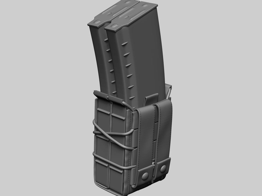 Snel dubbel mag etui royalty-free 3d model - Preview no. 9