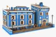 Fantasy Blue Building V2 3d model