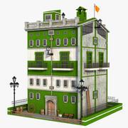 Fantasy Green Building V2 3d model