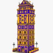 Fantasy Lakers Tower 3d model