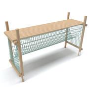 Wooden Playground Barrier36 3d model