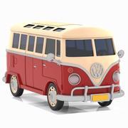 Toon Minibus Classic 3d model