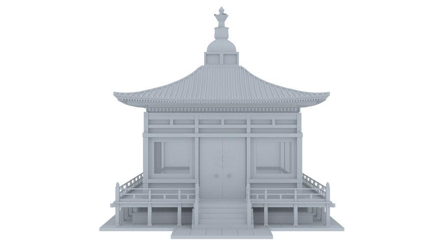 Japanska templet royalty-free 3d model - Preview no. 3