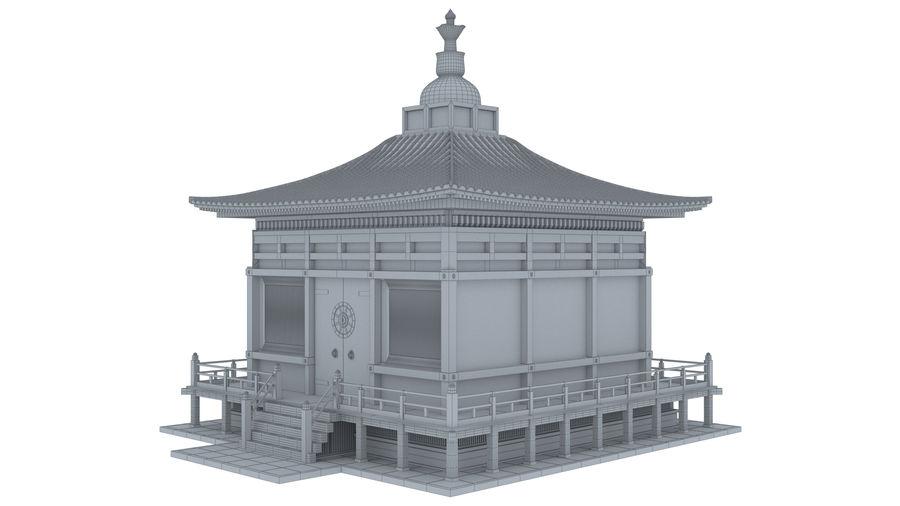 Japanska templet royalty-free 3d model - Preview no. 10