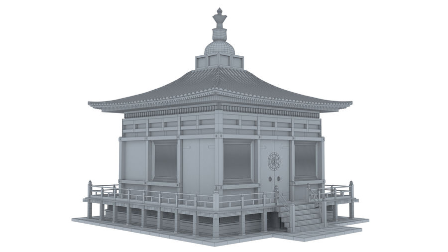 Japanska templet royalty-free 3d model - Preview no. 9