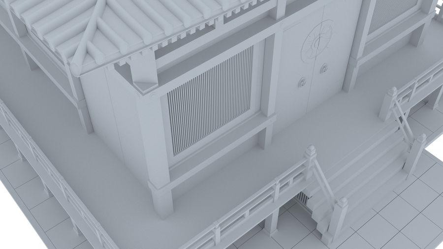 Japanska templet royalty-free 3d model - Preview no. 6