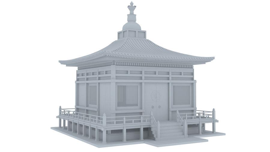 Japanska templet royalty-free 3d model - Preview no. 1
